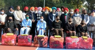 Cabinet Minister Balbir Singh Sidhu meets veteran soldiers of Paraplegic Rehabilitation Centre